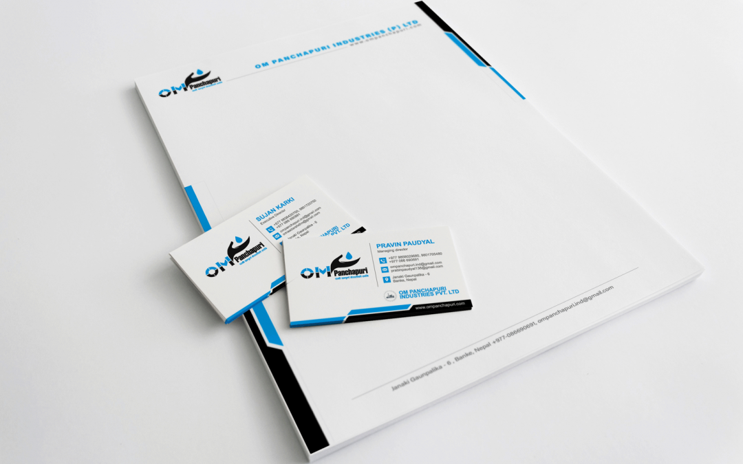 Letter head design with Business Card