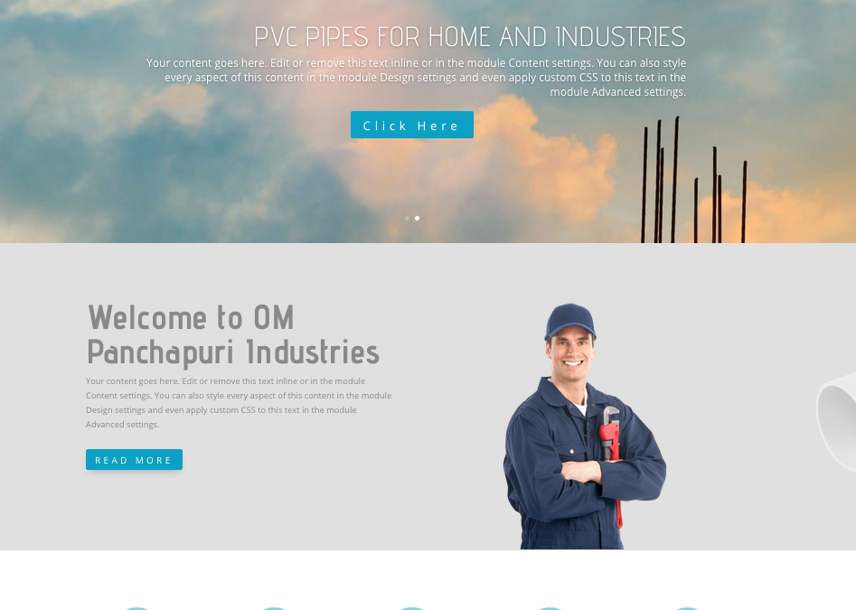 Website for a Pipe Industry
